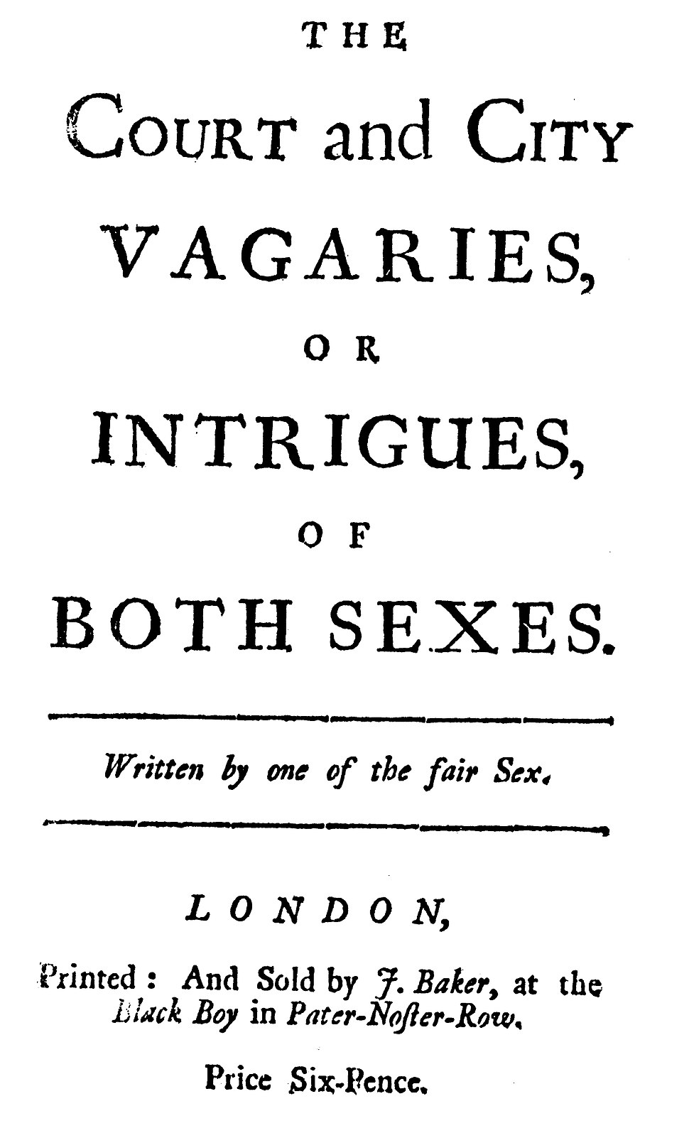 1711 The Court and City Vagaries