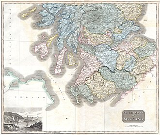 John Thomson (cartographer) - Image: 1815 Thomson Map of Southern Scotland Geographicus Scotland South t 15