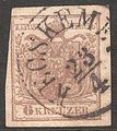 1850 Stamp Austria-Hungary 0004, Kecskemet, 23 April.jpg