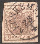 1850 Stamp Austria-Hungary 0004, Kecskemet, 23 April.jpg