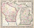 1864 Mitchell Map of Michigan and Wisconsin - Geographicus - MIWI-mitchell-1864.jpg