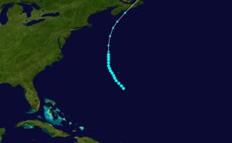 1887 Atlantic hurricane season - Image: 1887 Atlantic tropical storm 1 track