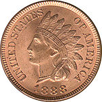 Indian Head Cent, Vorderseite