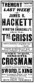 1903 Churchill TremontTheatre BostonDailyGlobe January5.png