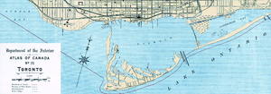 Toronto Harbour Commission - Image: 1906 Toronto Harbour map