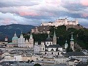 1907 - Salzburg - View from Mönchsberg