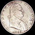 "1909 obverse, small date with Washington facing right and ""Liberty"" surrounded by 7 stars to the left and 6 stars to the right"