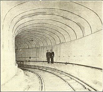 PATH (rail system) - Hudson tunnels shortly after their completion