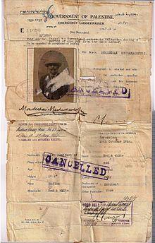 Mandatory Palestine passport - Wikipedia