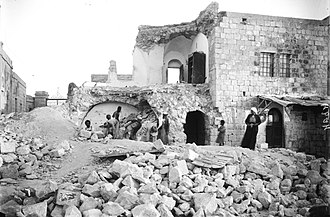 1927 Jericho earthquake - Image: 1927 Earthquake Olive Mount