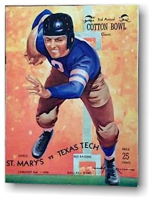 1939 Cotton Bowl Classic - 1939 Cotton Bowl Game Program