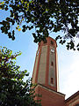 198 Sant Pere de Gavà, campanar, façana est.JPG