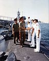 1990 Oct Russian Tour of USS Guitarro (SSN-665) with General Colin Powell.jpg