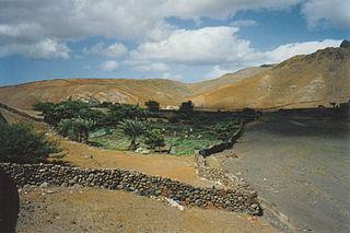 Ribeira do Calhau river in Cape Verde