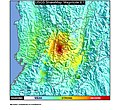 1999 Armenia, Colombia earthquake ShakeMap.jpg
