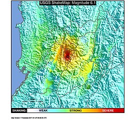 1999 Armenia, Colombia earthquake ShakeMap.jpg