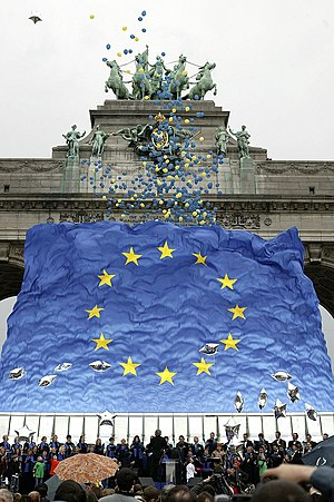 2004 enlargement of the European Union - Celebration in the Parc du Cinquantenaire in Brussels