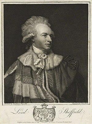 John Baker Holroyd, 1st Earl of Sheffield - John Baker Holroyd, 1st Baron Sheffield (1781), 1st Baron Sheffield (1783), 1st Baron Sheffield (1802), 1st Viscount Pevensey (1816) and 1st Earl of Sheffield (1816).