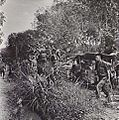 2-28TH INFANTRY BATTALION DISEMBARKING FROM A JEEP TRAIN AT THE EDGE OF BEAUFORT, BORNEO.JPG