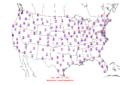 2005-11-13 Max-min Temperature Map NOAA.png