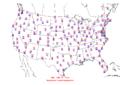 2006-06-21 Max-min Temperature Map NOAA.png