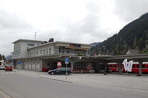 Davos Platz (Rhaetian Railway station) - Davos Platz station building