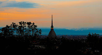 Mole Antonelliana - Mole Antonelliana in 2011, view from Monte dei Cappuccini