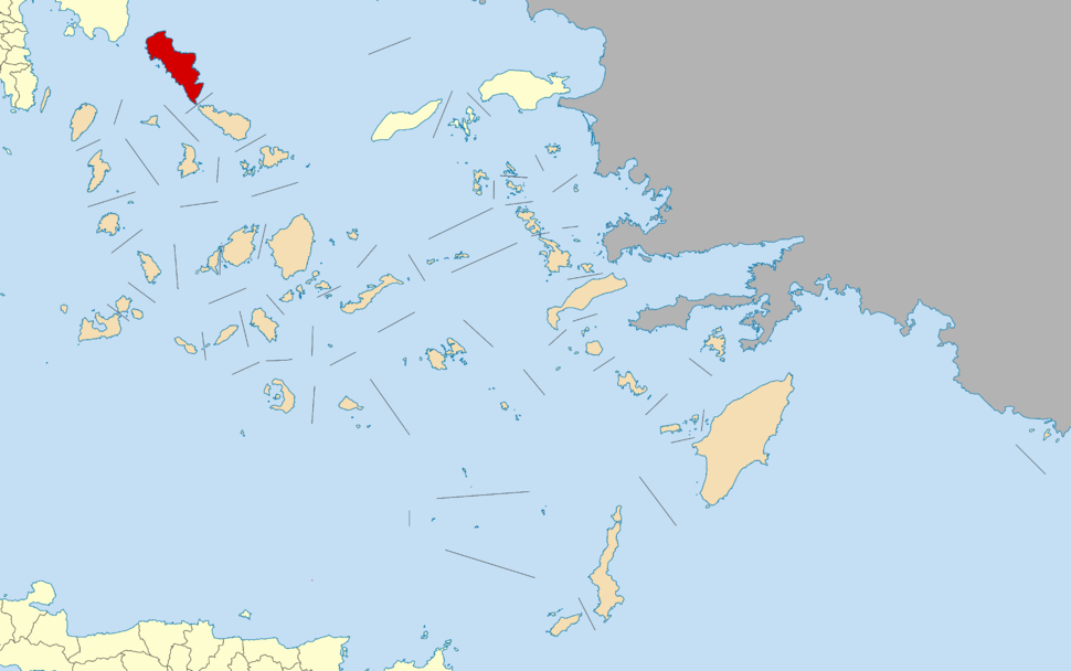 Andros within the South Aegean