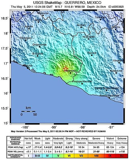 Image result for 1937 Orizaba earthquake