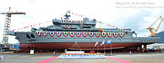 Christening ceremony of ROKS Tongyeong (Tongyeong class)