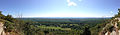 2014-08-25 12 05 17 Panorama east and south from the Appalachian Trail about 9.6 miles northeast of the Delaware Water Gap in Delaware Water Gap National Recreation Area, New Jersey.JPG