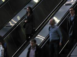 2014 at Reading station - escalator passengers.JPG