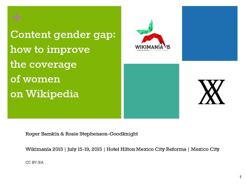 File:2015 Wikimania - Content Gender Gap - how to improve the coverage of women on Wikipedia.pdf