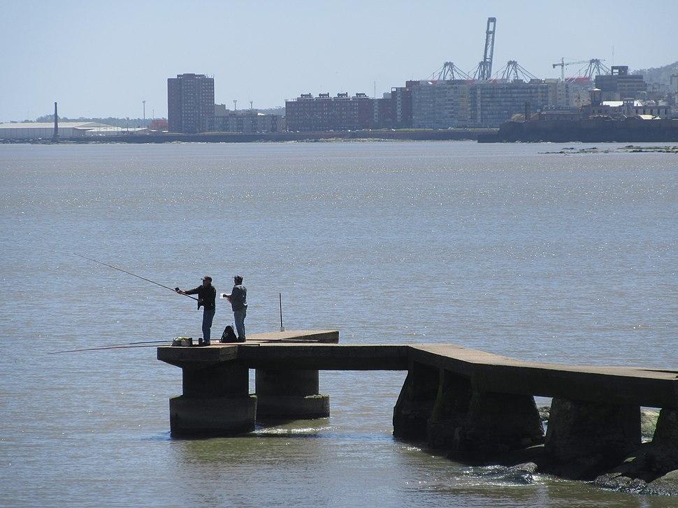 2016 Pescadores en Punta Carretas Montevideo Uruguay