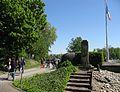 2017-04-30, Run for Europe, Denkmal und Bunker auf der Ile du Rhin 3.jpg