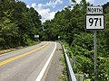 2017-07-22 14 00 36 View north along West Virginia State Route 971 (Clear Fork Road) at West Virginia State Route 97 in Baileysville, Wyoming County, West Virginia.jpg