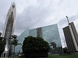 The Christ Cathedral (formerly the Crystal Cathedral) in 2018.