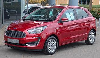 Ford Germany - Image: 2018 Ford KA+ Zetec 1.0 Front