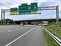 2019-05-19 12 16 58 View west along Interstate 70 and U.S. Route 40 (Baltimore National Pike) at Exit 53B (NORTH U.S. Route 15, WEST U.S. Route 40, Gettysburg) in Ballenger Creek, Frederick County, Maryland.jpg