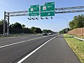 2019-08-07 09 08 20 View south along U.S. Route 29 (Columbia Pike) at Exit 16B (Maryland State Route 32 WEST, Clarksville) in Columbia, Howard County, Maryland.jpg