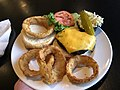 2020-03-15 19 07 13 A cheeseburger with onion rings at the Amphora Diner in Herndon, Fairfax County, Virginia.jpg