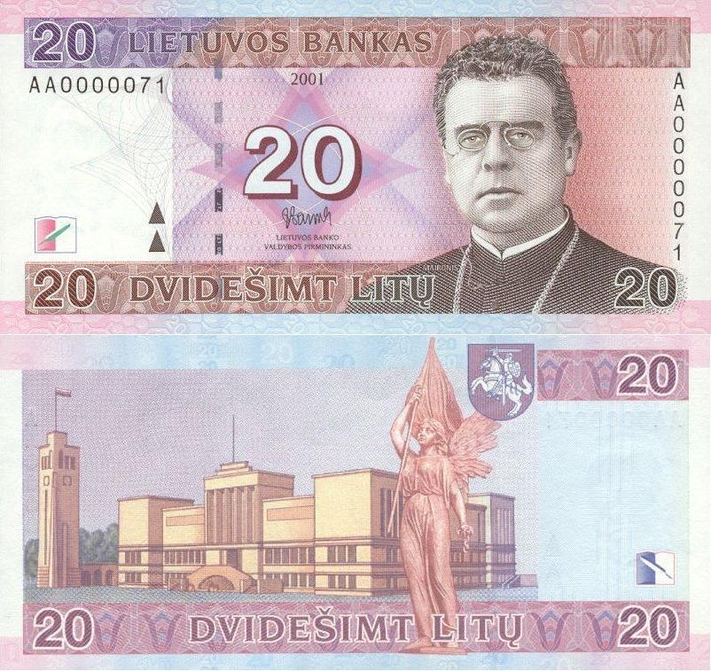 20 litai (2001)