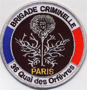 Direction Régionale de Police Judiciaire de Paris - Brigade criminelle Patch
