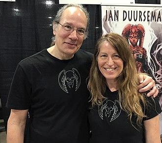 Tom Mandrake - Mandrake with his wife, fellow comics artist Jan Duursema