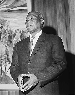 Albert Lutuli - Albert Lutuli during his Oslo visit in 1961.