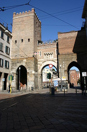Camillo Boito - Gothic restoration of Porta Ticinese in Milan.