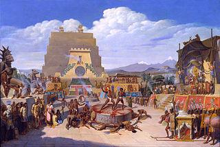 Reconstrucción ideal de una ceremonia prehispánica