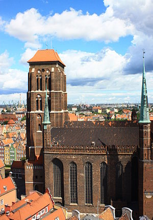 Brick Gothic - St. Mary's Church in Gdańsk, Poland