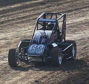 Kyle Larson - Larson racing in a midget car in 2012