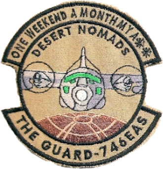 189th Airlift Squadron - Emblem used during the 189th Airlift Squadron's deployments to Iraq during Operation Iraqi Freedom as the 746th EAS